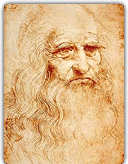 Self-portrait in red chalk, circa 1512-1515.